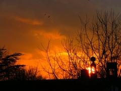 Fraaie  zonsondergang op 2 februari #buienradar