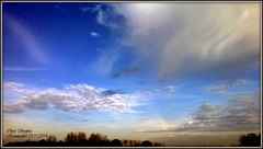 Mooie wolkenpartijen op zaterdagmorgen 22 november #buienradar