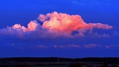 Prachtige de roze wolken bij zonsondergang. 29-4-2016( 20.56) #buienradar
