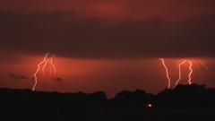 Onweer met veel ontladingen in Emmen(DR) #buienradar
