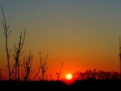 18-04-6.30  De  zon  verschijnt  aan  de  horizon. #buienradar