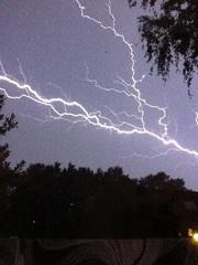Onweer in almen #buienradar