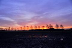 waterige zonsopkomst op zaterdag #buienradar