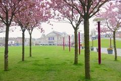 Lente in Amsterdam, Museumplein en Concertgebouw. #buienradar
